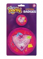 Pack of 2 Princess birthday badges (Code 1207)